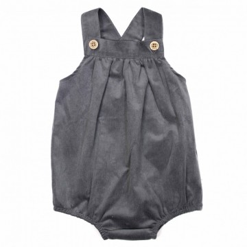 Wally Romper, Charcoal