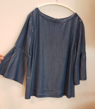Freequent | Pretty Blouse, Medium Blue