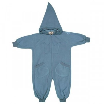 Memini Bunny Fleece Overall, Mirage Blue