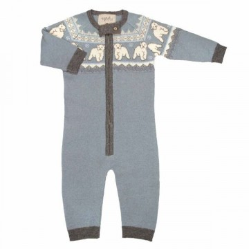 Memini Polar Overall, Grey Blue