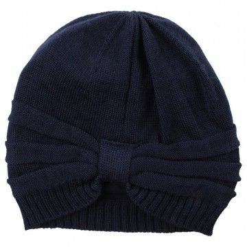 Nordic Label | Knit Wool Hat m/sløyfe, Total Eclipse