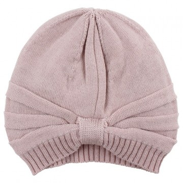 Nordic Label | Knit Wool Hat m/sløyfe, Shadow Rose