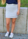 Freequent | Zuzu Skirt Grey melange thumbnail