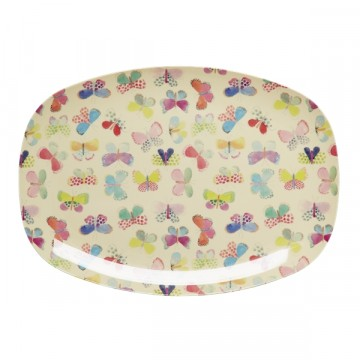 Rice | Melamine Plate Rectangular Butterfly