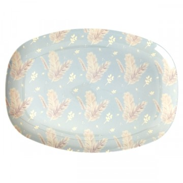 Rice | Melamine Plate Rectangular Feather